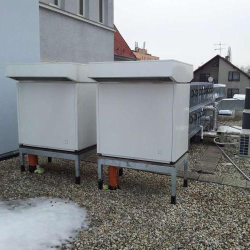 Průmyslové instalace tepelné čerpadlo vzduch-voda, včetně rekuperace-1