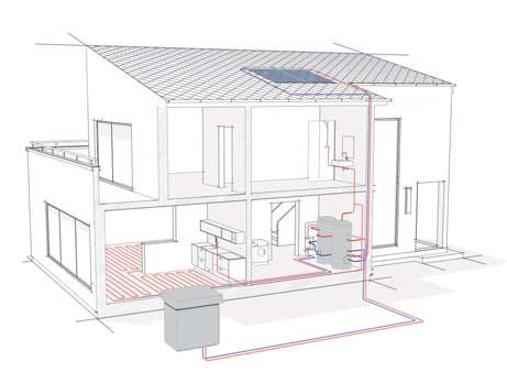 Tepelné čerpadlo vzduch-voda WPL E schéma