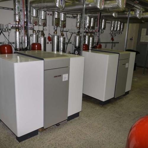Tepelné čerpadlo voda-voda - průmyslová instalace vytápění, chlazení, rekuperace odpadního tepla - 1